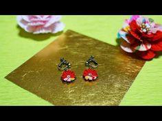 丸菊イヤリング vol.6 - YouTube Kanzashi Flowers, Chrysanthemum, Class Ring, Bag Accessories, Japan, Drop Earrings, Youtube, Japanese Art, Drop Earring