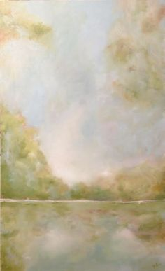 """""""Unexpected View"""" 24x36  Abstract painting by Liz Lane lizlanestudios.com"""