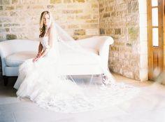 Photography: Brandon Aquino  - www.brandonaquino.com/ Wedding Dress: Vera Wang - verawang.com   Read More on SMP: http://www.stylemepretty.com/2015/06/22/romantic-santa-barbara-winery-estate-wedding/