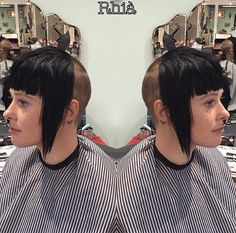 Vintage Hairstyles With Bangs Super Short Hair, Short Hair Cuts, Short Hair Styles, Skinhead Reggae, Skinhead Girl, Vintage Hairstyles, Hairstyles With Bangs, Girl Hairstyles, V Bangs