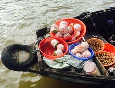 Pomelos at floating market Vietnam