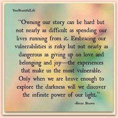 SELF CARE 💆🏽✨ Brene Brown--Something about this is so inspiring. Wish I had the courage to live that everyday. Great Quotes, Quotes To Live By, Inspirational Quotes, Change Quotes, Quotes Quotes, Motivational, Awesome Quotes, Brene Brown Zitate, Cool Words