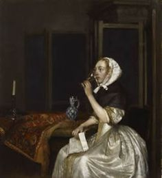Young Woman with a Glass of Wine, Holding a Letter in her Hand Gerrit ter Borch 1665 Oil on canvas, 38 x 34 cm. Sinebrychoff Art Museum, Finnish National Gallery, Helsinki