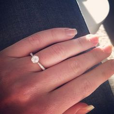 14K White Gold Scroll-Basket Pave Set Diamond Engagement Ring