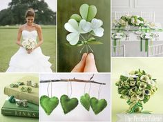 The Perfect Wedding Palette: {Lucky in Love}: Shades of Green + White