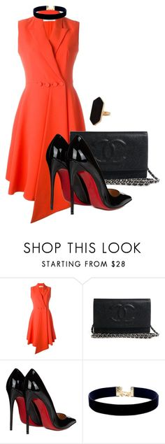 """Без названия #439"" by eugenenoir ❤ liked on Polyvore featuring Christian Dior, Christian Louboutin, Vanessa Mooney and Jaeger"