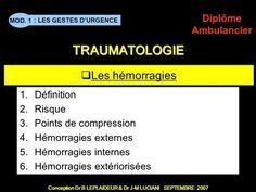 Les hémorragies Définition Risque Points de compression Points, Le Point, Emergency Medical Technician