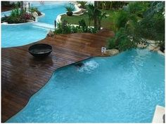Swimming Pool Wood Deck Designs | POOLS AND WOOD - WOODEN DECKS ON POOLSIDE : SWIMMING POOLS AND PONDS ...