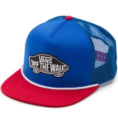 a7bc68afe9c Vans Classic Patch Snapback Trucker Hat (Blue Red)  19.95