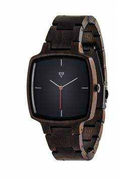 This watch is so clean and stylish. And it's made of wood.