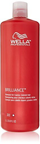 Wella Brilliance Shampoo for Coarse Colored Hair for Unisex 338 Ounce ** Click image for more details.