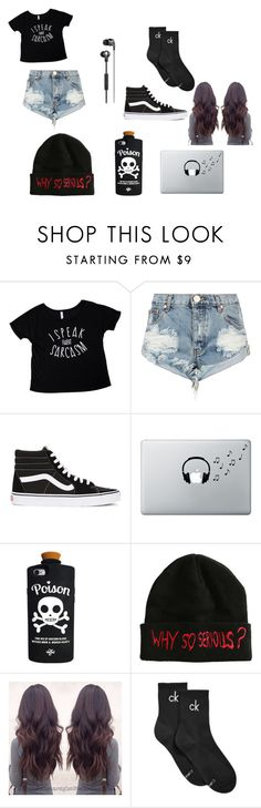 """""""My perfect outfit"""" by thatonepsycho ❤ liked on Polyvore featuring One Teaspoon, Vans, Music Notes, Valfré and Calvin Klein"""