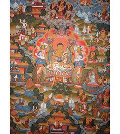 High Quality #Buddha Life History #Tibetan #Thangka Handmade in Nepal, ShakyaHandicraft.Com