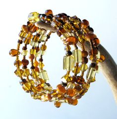 Beaded bracelet stack sparkling yellow gold topaz by dalystudios
