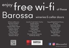 Wineries and Cellar Doors with Free WiFi – Barossa Free Wifi, Cellar, Infographics, Wines, Doors, Info Graphics, Infographic, Doorway, Gate
