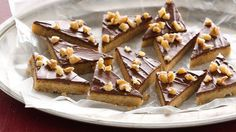 Holiday Toffee Bars - (I would SO use butter in these, not margarine. There is such a taste difference.) - C