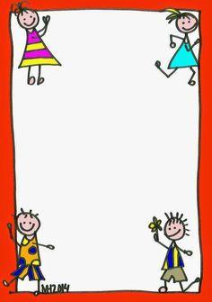 Borders - CRIANÇAS Podem ser utilizados para: recados aos pais, enquadrar desenhos, escrever os textos das crianças, divulgar activida...