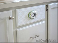 How to Monogram a Cabinet Drawer with Martha Stewart Decorative Crafts Paints