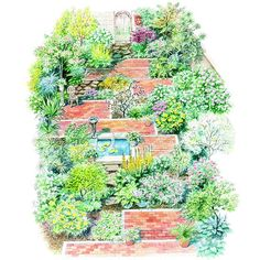 1000 images about garden plan on pinterest landscape - Free shade garden design plans ...