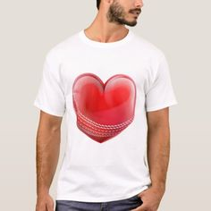 Cricket Ball In A Heart Shape T-Shirt  #videos #illustrations #posters cricket drawing, cricket quotes, cricket logo Cricket Logo, Cricket Sport, Cricket Quotes, Illustrations Posters, Heart Shapes, Drawing, Videos, Sports, Mens Tops