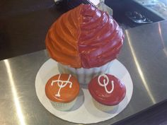 TX OU Cupcakes from Bread Winners Cafe and Bakery in Dallas, TX