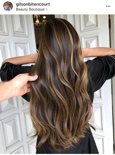 33 trendy ombre hair color ideas of 2019 - Hairstyles Trends Brown Hair Balayage, Hair Color Balayage, Hair Highlights, Short Balayage, Caramel Highlights, Prom Hairstyles For Long Hair, Cool Hairstyles, Ombre Hair Color, Gorgeous Hair