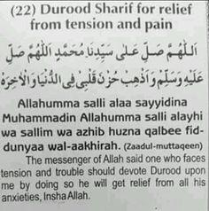 Or just recite salawat