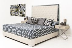 Mirrored upholstered Headboard