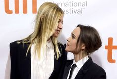 Actress Ellen Page arrives with her girlfriend, Samantha Thomas (L), on the red carpet for the film ... - REUTERS/Mark Blinch