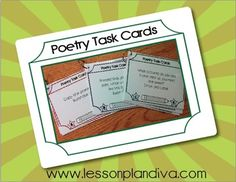 FREE Differentiated Poetry  Task  Cards
