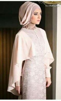 Pin Image by Celebrity Kusmia Dress Brokat, Kebaya Dress, Hijab Dress, Kebaya Muslim, Muslim Dress, Abaya Fashion, Modest Fashion, Fashion Dresses, Beautiful Hijab