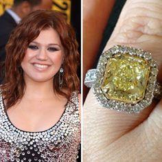 Brandon Blackstock co-designed Kelly Clarkson's canary diamond engagement ring with jeweler Johnathon Arndt.  Photo: FameFlynet / Kelly Clarkson