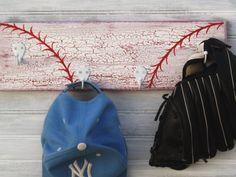 Baseball Red Softball Player Hanger 4 Hook Rack by sportyracks