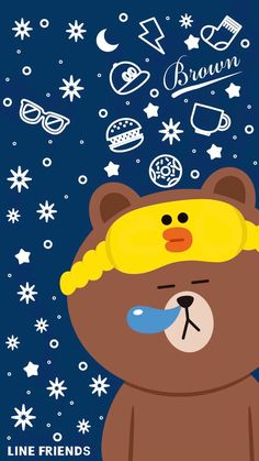 Lines Wallpaper, Brown Wallpaper, Bear Wallpaper, Wallpaper Backgrounds, Cute Disney Wallpaper, Cute Cartoon Wallpapers, Kaws Iphone Wallpaper, Bunny And Bear, Friends Wallpaper