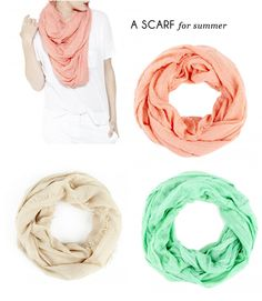 perfect colors for summer scarves