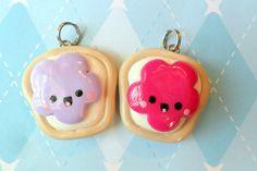 Kawaii Best Friends Jelly Toast Charms. So cute!