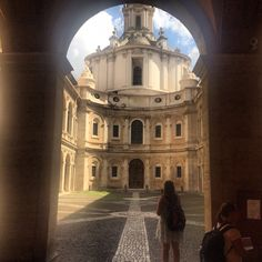 Behind all doors are stunning views- Rome