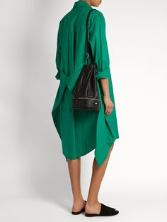 Almond self-stowing leather bucket bag | F.E.V. by Francesca E. Versace | MATCHESFASHION.COM UK