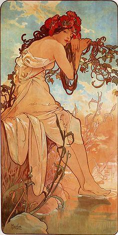 Summer (1896) by Alphonse Mucha