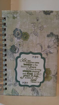 Check out this item in my Etsy shop https://www.etsy.com/listing/235822844/christian-prayer-journal-with-scripture