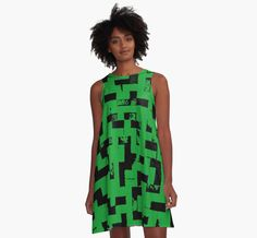 Line Art - The Bricks, tetris style, green and black by cool-shirts   Also Available as T-Shirts & Hoodies, Men's Apparels, Women's Apparels, Stickers, iPhone Cases, Samsung Galaxy Cases, Posters, Home Decors, Tote Bags, Pouches, Prints, Cards, Mini Skirts, Scarves, iPad Cases, Laptop Skins, Drawstring Bags, Laptop Sleeves, and Stationeries