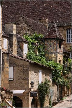 Sarlat, France -- we were here on our honeymoon at Christmas in 2004. Villagers were buying their Christmas goose or duck in the market. It felt as if we were in a movie.