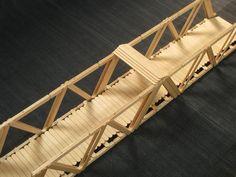 my design of a popsicle stick bridge
