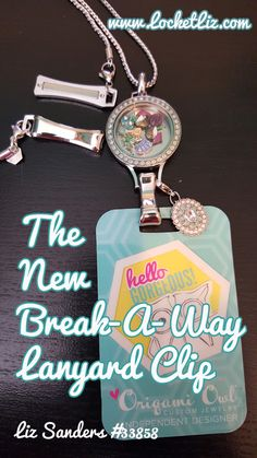 The new Lanyard Breakaway Clasp for Origami Owl Lanyard Lockets, available August 2015.