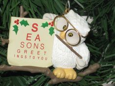 Hallmark Owl Ornament  Collectible by CountrySquirrelsNest on Etsy