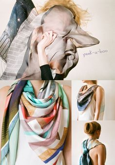 Cashmere Silk Scarf - Fascination Silk Scarf by VIDA VIDA