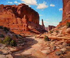 """Josh Elliott (Born in Great Falls, MT in 1973) """"Crooked Trail"""""""