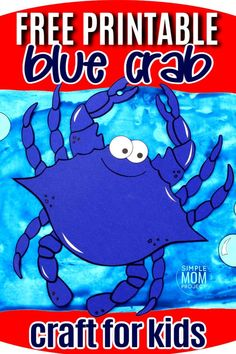 Is your preschooler, toddler, or even kindergartner trying to learn the letter C? Use our free printable crab template to make this easy beach theme friend! This crab craft is so much fun to make and you don't even need a paper plate to make this crab craft! Ocean Crafts for Kids  #crab #crabcraft #bluecrabcraft #oceananimal #oceananimalcraft #SimpleMomProject Sea Creatures Crafts, Sea Animal Crafts, Animal Crafts For Kids, Craft Activities For Kids, Toddler Crafts, Kids Crafts, Crab Crafts, Sun Crafts, Printable Crafts