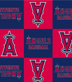 Los Angeles Angels MLB  Fleece Fabric