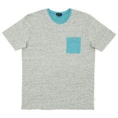 Paul Smith Contrast Pocket Tee (Grey Marl & Turquoise)